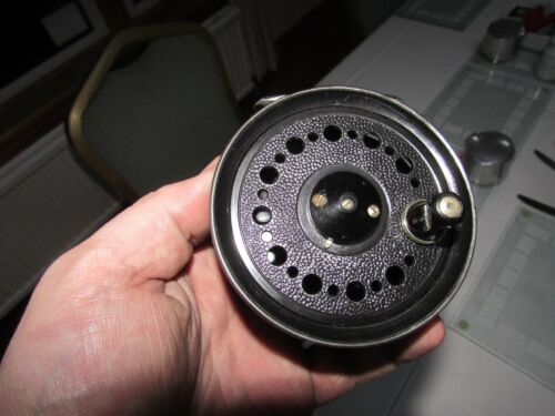 "V good vintage youngs early beaudex trout fly fishing reel 3.5"" lineguard"