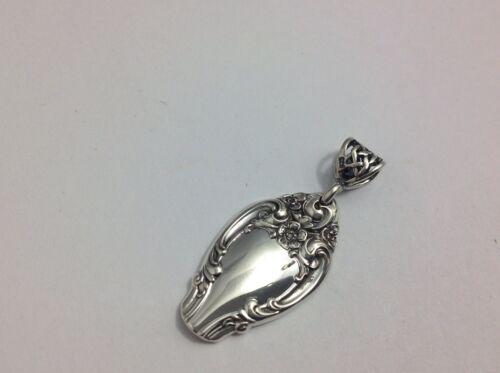 Melrose Pendant Gorham STERLING Jewelry Rose Bin #61 Flower Silver