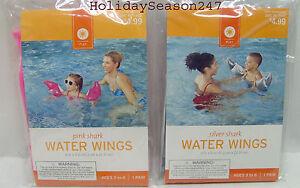 Water Wings Shark Armband Kids 3 6 Pool Floatation Device
