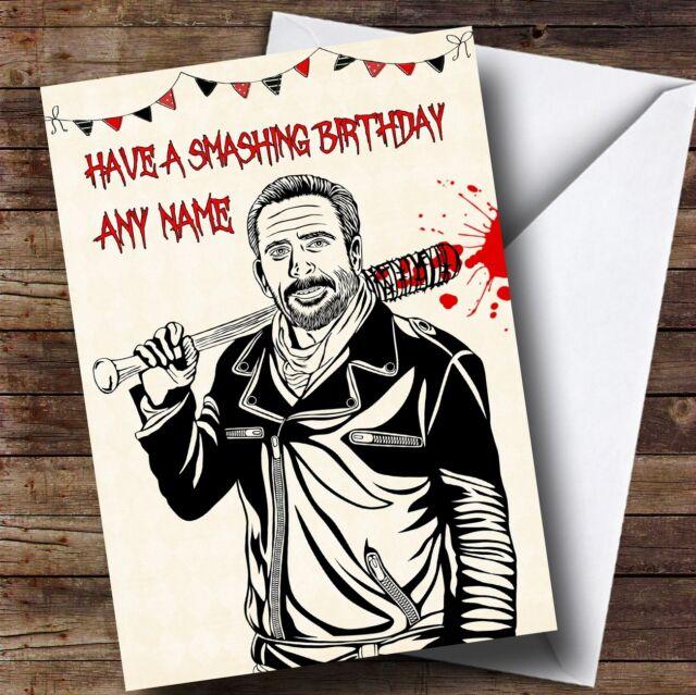 Killer Negan The Walking Dead Personalised Birthday Card Ebay