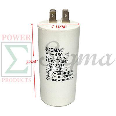Capacitor//Motor Capacitor 45uF//µF CBB60 450V Socket Connector gewindem 8