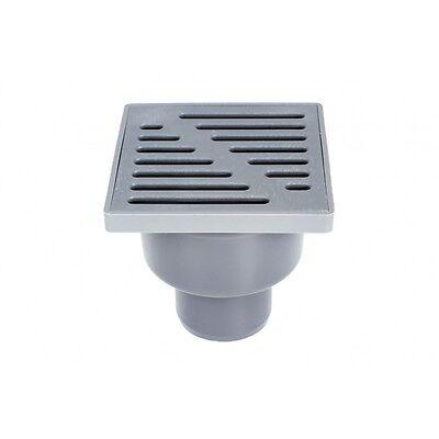 Dusche Intellektuell Plastik Grau Boden Abfluss Falle 150mm X 150mm/50mm Boden Abfall Rohr Verbindung