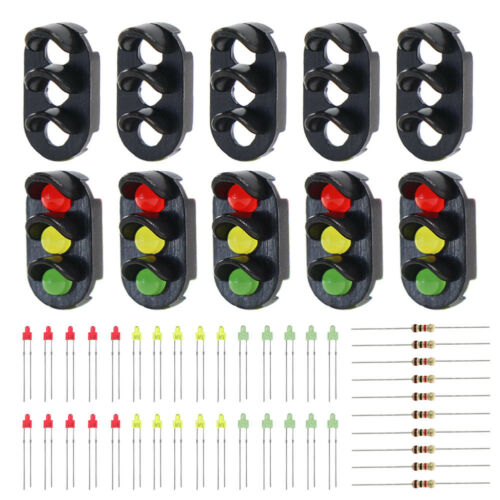 JTD13 10 sets Target Faces With LEDs for Railway signal N or Z Scale 3 Aspects