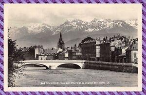 Tarjeta-Postal-Postal-Grenoble-vista-en-elIsere-y-la-cadena-de-los-alpes