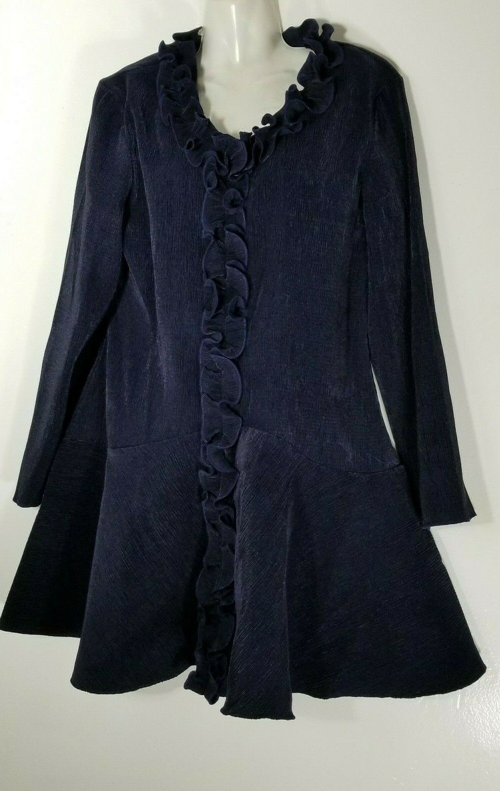 Jerry T Woherren Navy Blau Long Sleeve Tunic Dress 1X 18 20 Plus SR 3373 NWT New