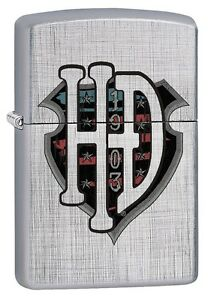 "ZIPPO ""HARLEY DAVIDSON 1903"" LINEN WEAVE COLOR LIGHTER MOTORCYCLES *BOX*"
