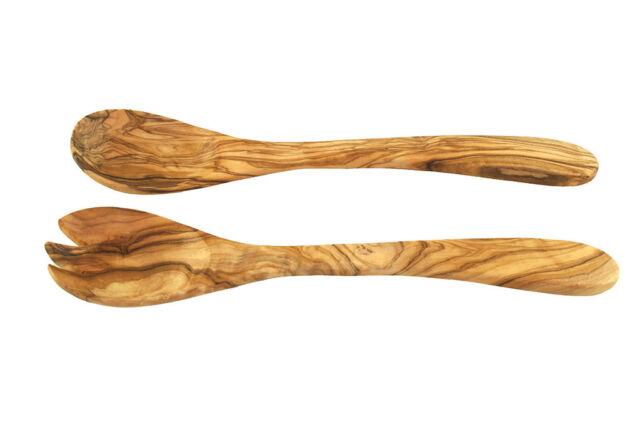 Salatbesteck OLIVENHOLZ 30 cm Holz