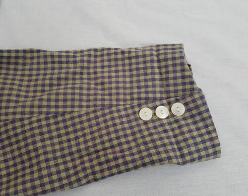 Men's giallo lino Check Jacket Jacket di miscela Gingham Gap Sport Large e Viola afdqCq