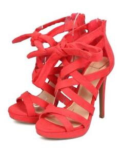 New-Women-Wild-Diva-Madden-13-Suede-Peep-Toe-Ankle-Wrap-Strappy-Stiletto-Sandal