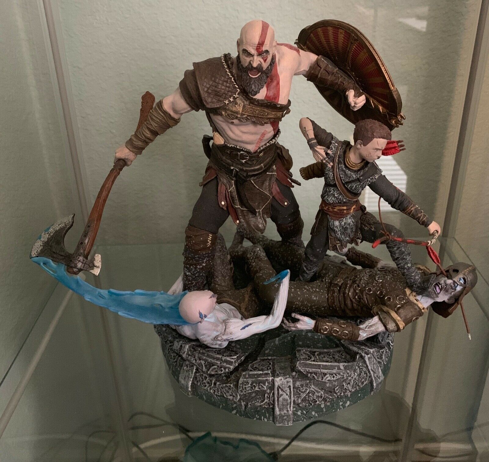 God of War Kratos & Atreus Statue Only Collectors edition
