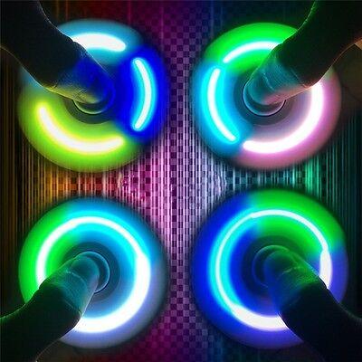 Tri Hand Finger Spinner Figet 3D Figit with LED light 360° Spin Pocket EDC Toys
