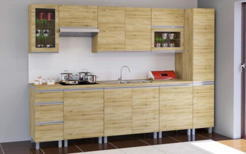KMO80GW Holz Dab Sonoma 80 cm breit Küchen Oberschrank Wandschrank Monia