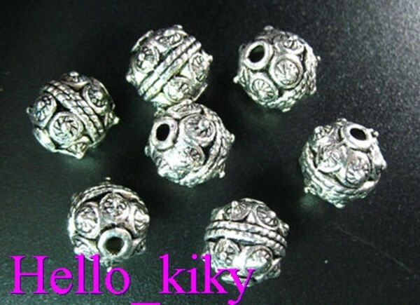 25 pcs Tibetan silver motif crafted ROUND spacers A749