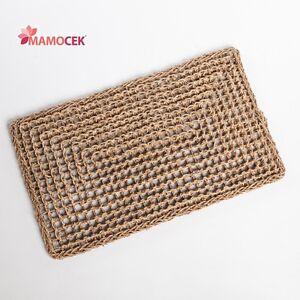 ZERBINO tappeto naturale corda erba cm.60x35 ingresso porta da ...