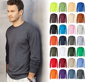 Gildan-Ultra-Cotton-Mens-Crewneck-Long-Sleeve-T-Shirt-S-5XL-2400