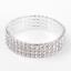 Luccicante-Bling-Diamante-strass-Cristallo-Argento-Stretch-Braccialetto-Venditore-UK