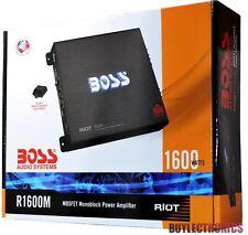 Boss R1600M Mono Block Car Amplifier 1600Watts / RIOT Series Car Audio Class A/B