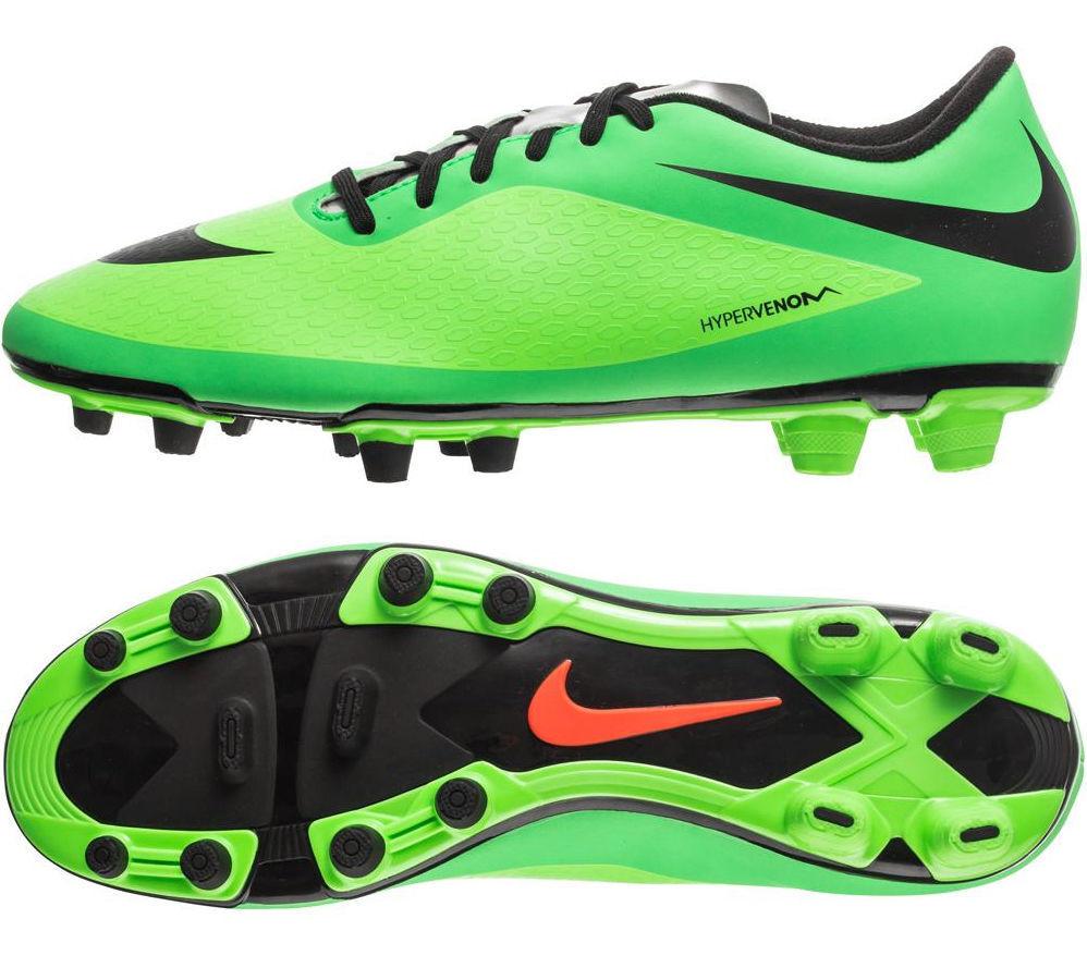 New Mens Nike Hypervenom Phade FG Firm Ground Soccer Cleats Green Black