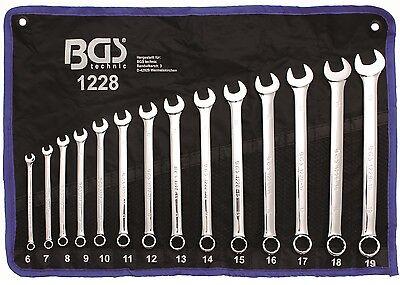 BGS XXL set di chiavi anello muso extra lungo 6-19 mm 14tlg 1228 Ring aperte