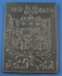 Gefertigt Nach 1945 Halbergerhütte Plakette Eisen Eisenplakette 1988/89 Volume Large Eisen