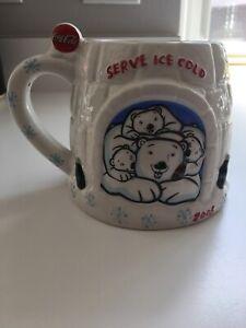 Coca-Cola-Ceramic-Mug-Serve-Ice-Cold-Polar-Bear-2005-Collectible