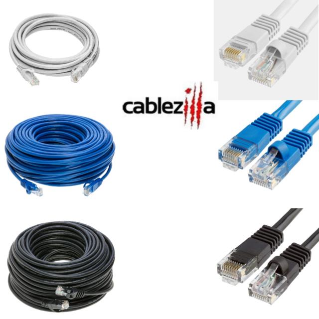 CAT5 RJ45 Ethernet LAN Network Patch Cable 6 ft 7 10 15 25 foot Lengths US Ship