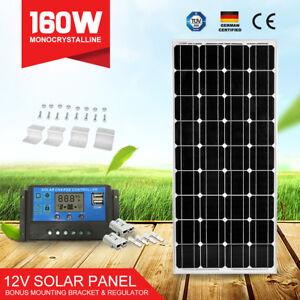 12V-160W-Solar-Panel-Mono-Cells-amp-20A-PWM-Regulator-amp-4PC-Mounting-Brackets