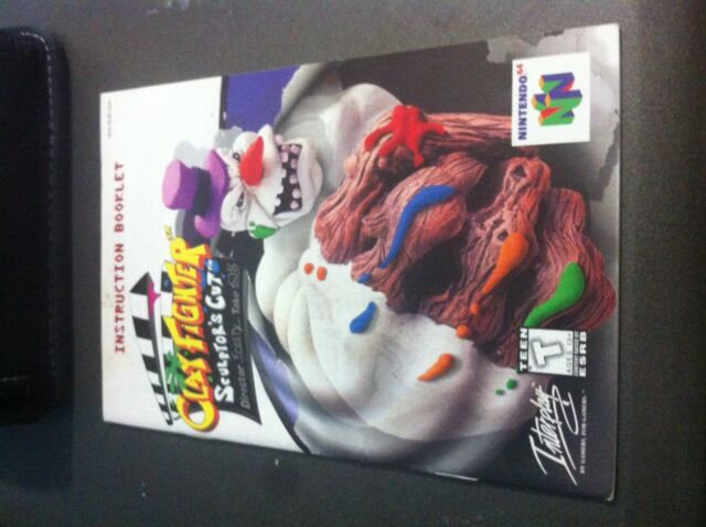 Clay Fighter SCULPTOR'S CUT Nintendo 64 INSTRUCTION MANUAL - VERY RARE !!