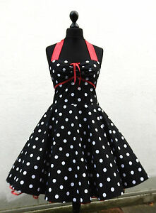 e13d5918ce6c Das Bild wird geladen 50er-Petticoat-Rockabilly-Tanz-Konfirmation-Abiball- Abend-Kleid-