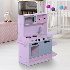 Children's Large Deluxe Wooden Kitchen Kids Toy Cooking Role Pretend Play