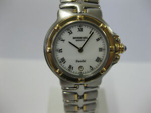 Ladies-Raymond-Weil-Parsifal-Stainless-Steel-amp-Gold-Bracelet-Watch-9990-724