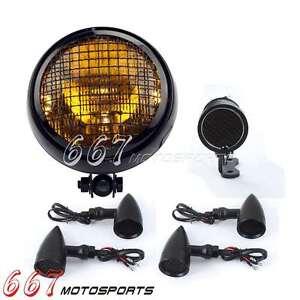 retro frontscheinwerfer motorrad blinker licht led. Black Bedroom Furniture Sets. Home Design Ideas