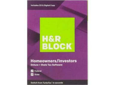 H&R BLOCK Tax Software Deluxe + State 2019 + BullGuard Protection