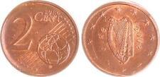 Irland 2 Cent 2002 Fehlprägung, 2x geprägt,  prägefrisch, Kupferpatina