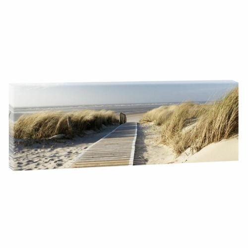 LEINWAND KUNSTDRUCK BILD WANDBILD Panorama Landschaft Nordsee Strand /&Meer 301