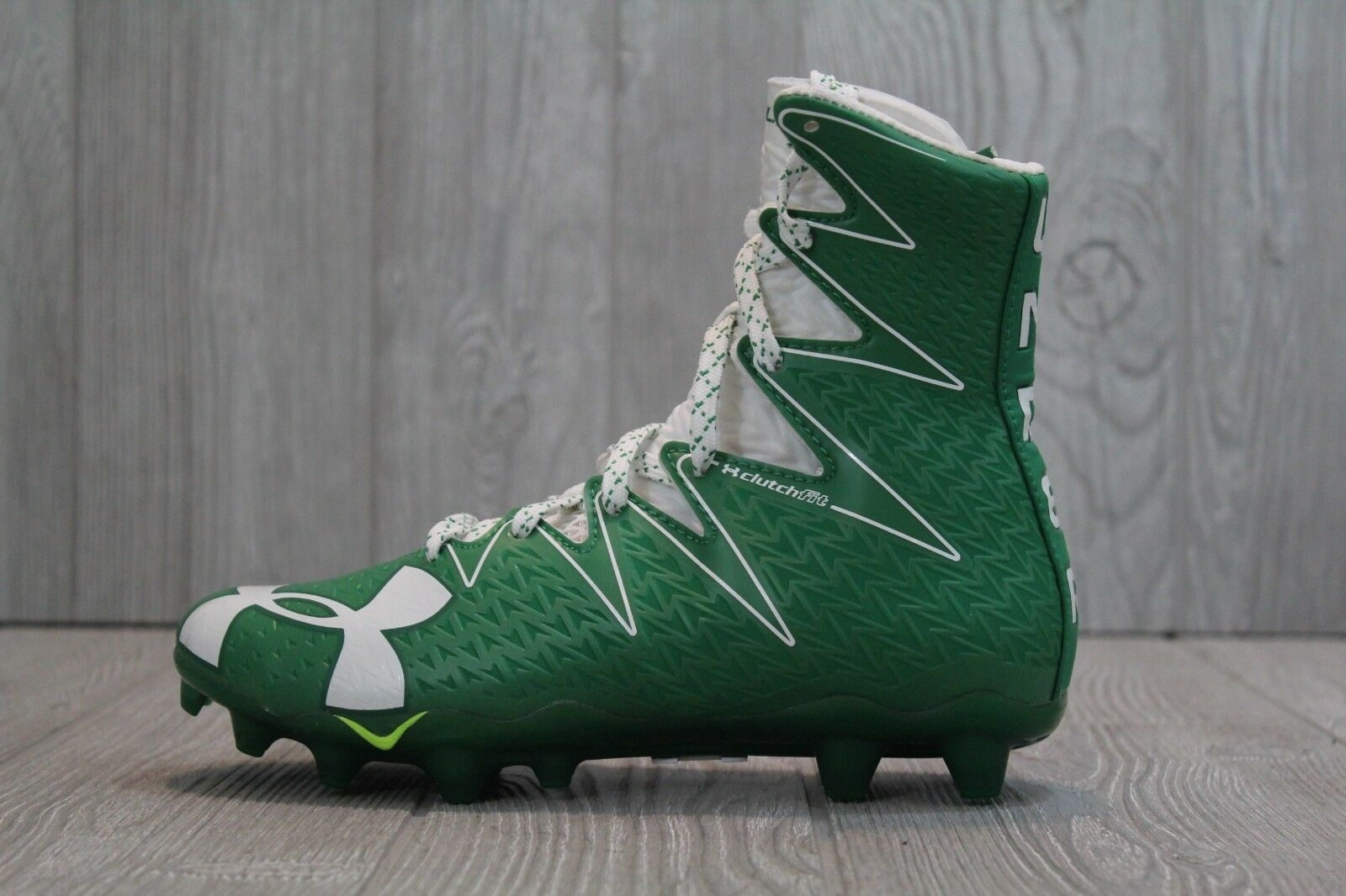 31 Uomo Under Armour Highlight MC Football Cleats Green/White 1269693-312 Size 5