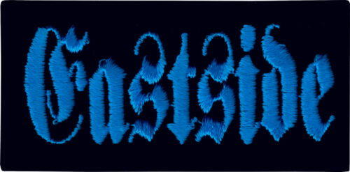 20121 Eastside Black /& Blue Gangster G Gangsta Embroidered Sew Iron On Patch