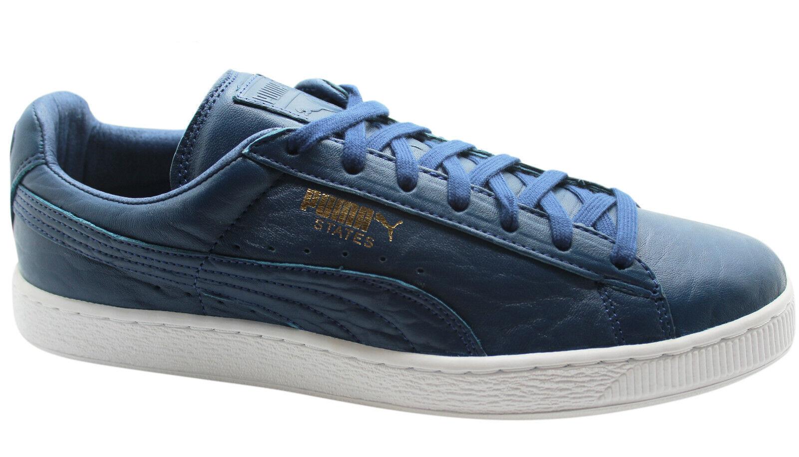 Puma States Mens Trainers bluee bluee bluee Leather Unisex Low shoes 358810 02 U1 a69cab