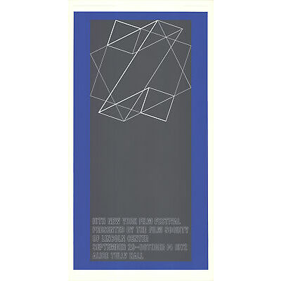 Josef Albers-The 10th New York Film Festival-1972 Serigraph-SIGNED