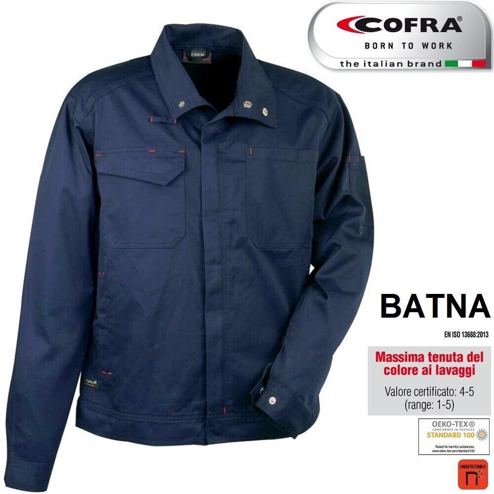 Immagine 4 - Giacca-da-lavoro-COFRA-modello-BATNA-100-cotone-300-g-m-edilizia-industria