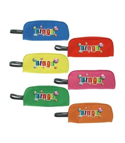 Trousse Loto Bingo de rangement pour accessoires pions batons en toile nylon