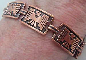 Copper-Bracelet-Linked-Wheeler-Thunderbird-Arthritis-Healing-Folklore-cb-246