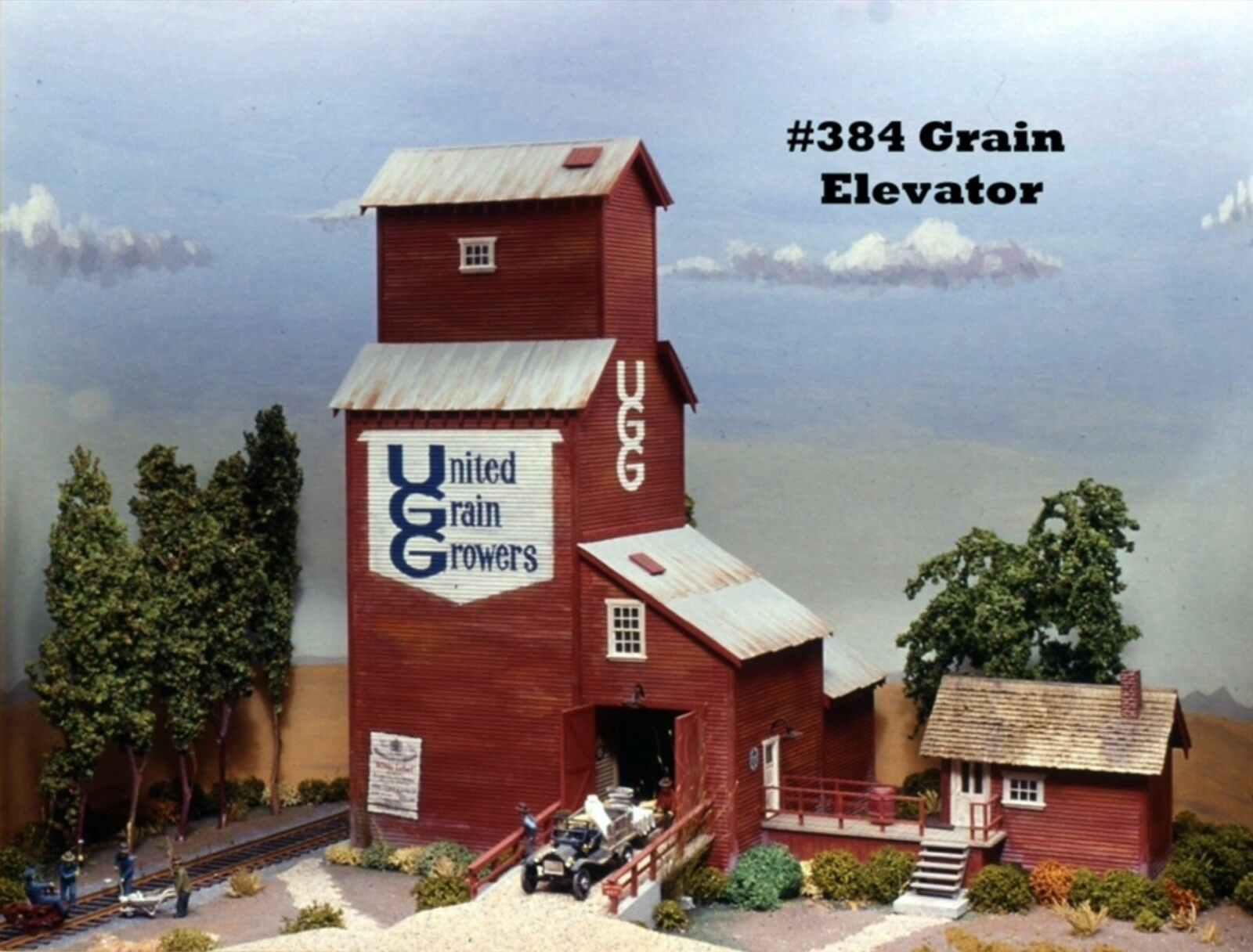 Campbell Scale Models 384 Grain Elevator HO Scale Craftsman Kit NICE