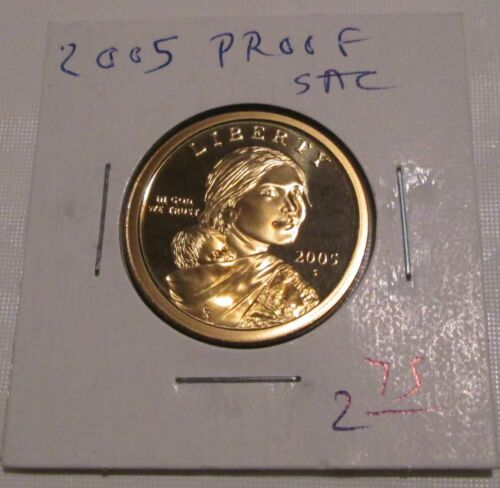2005 Proof Sacagawea Dollar w Infant son Native American Dollar San Francisco