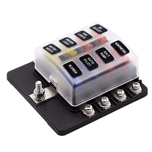 LED beleuchtete Kfz Sicherungshalter Box für 8 fach Sicherungsblock mit
