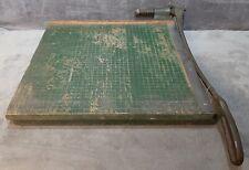 Vintage Premier Brand Heavy Duty Wood 18 Model W18 Guillotine Paper Cutter Usa