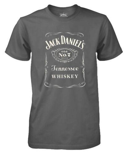 Jack Daniels Homme Classique nº 7 à manches courtes tee gris anthracite 15261400JD-79