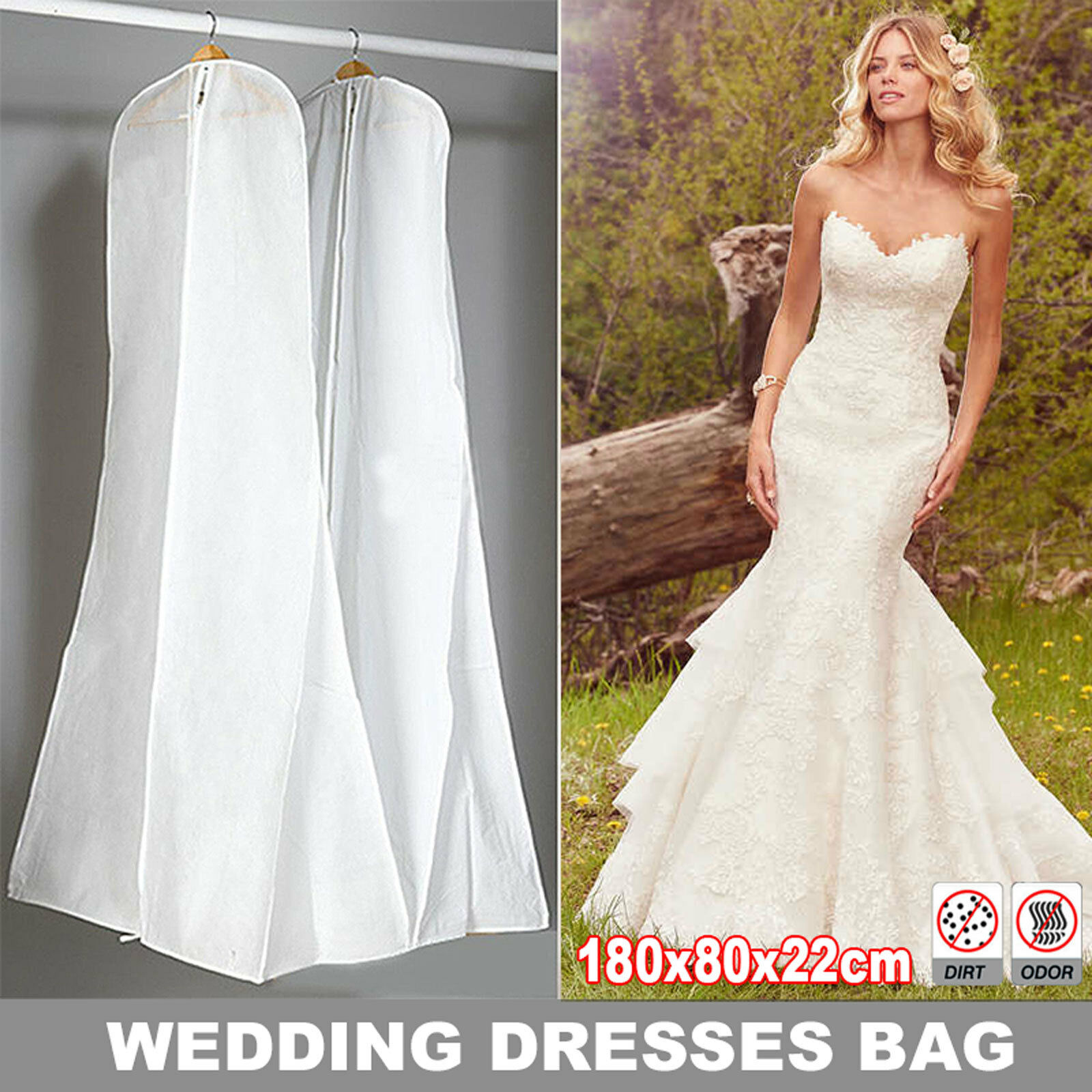 White Dustproof Wedding Dress Storage Clothes Bag Cover For Bridal Gown Garment Ebay,Wedding Dress From Dhgate Review