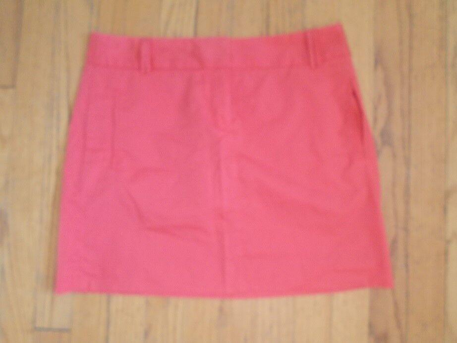 J.Crew cotton mini sz 6 pink salmon coral EUC    jh