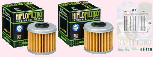 2x HF110 Filtre à huile Pour Honda Nsf NSF250 R 2011 Sur
